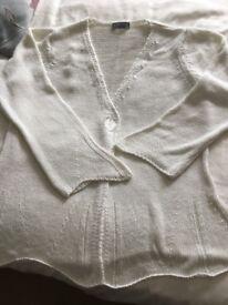 Beautiful Per Una White cotton cardigan