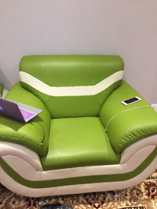 3 piece green sofa for sale