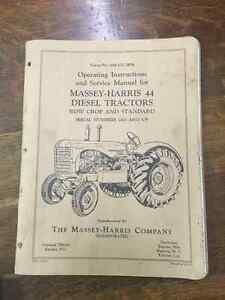 Massey Harris 44 Diesel Tractor Operstor Manual