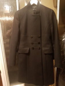 ZARA WOMEN COAT - BLACK MILITARY CUT