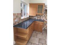 Kitchen units with integrated fridge/freezer & sink