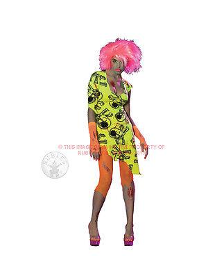 Adult Toxic Zombabe Fancy Dress Costume Halloween Zombie Raver Ladies Womens - Raver Costume Halloween