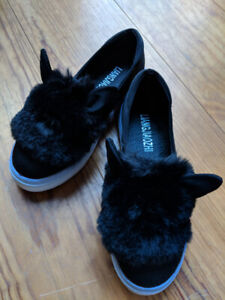 NEW // Furry slip ons with bunny ears - Size US 4.5 (EU 35)