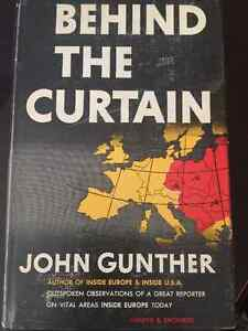 RARE: Behind the Curtain John Gunther 1949 - First Canadian ed.
