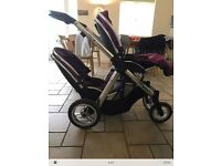 Babystyle oyster max single and double pushchair pram immaculate grape Newcastle or Alston Cumbria