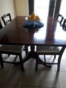solid mahogany dining room table