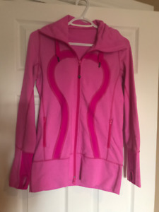 Lululemon Size 4 zip up with hoodie