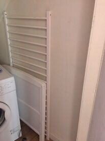 White cotbed with top changer and matteess