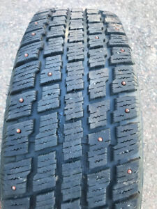 4 Studded Winter Tires Mounted on 5 bolt steel rims (205/75R/16