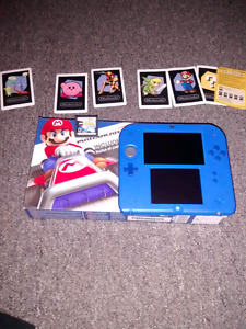 Perfect Condition Blue Nintendo 2DS with 2 Games