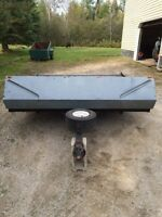 Newly rebuilt double snowmobile and atv trailer