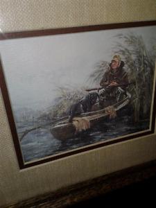 9 x 10  Duck Hunter vintage  quality framed rare art  print