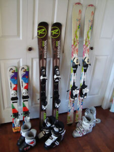 Children's Skis, Bindings, and Ski Boots Package $150