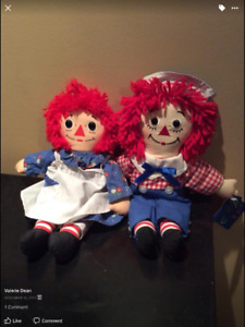 Beautiful Raggedy Ann and Raggedy Andy Dolls