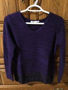 Cleo Sweater Size S (purple/black) Worn twice!