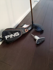 Ping G400 3 wood (LH) excellent cond, head cover wrench