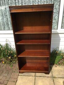 Solid dark wood bookcase