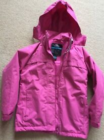 Trespass girls padded waterproof jacket