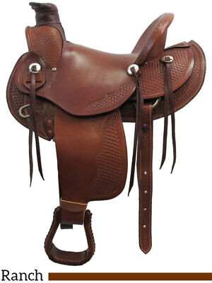 """Dakota Saddlery Wade Tree Ranch Saddle 16"""" Seat #809 for sale  Pillager"""