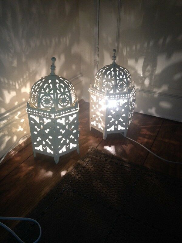 Moroccan Lantern Table Lamps X2 In Bradford West Yorkshire Gumtree