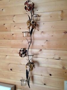 Hanging flower candle holder