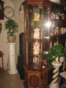curio cabinet= matching bookcase cabinet