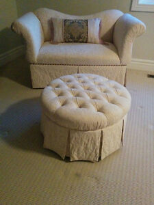 Love Seat Couch - Off White - *PP and Ottoman Cambridge Kitchener Area image 2