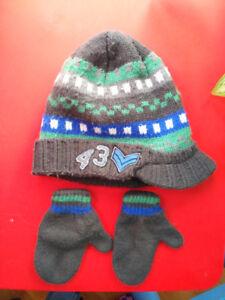Tuque casquette et mitaines - 4_5 ans garçon