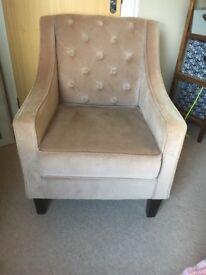 OKA style velvet chair