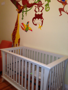 Baby Furniture: Glider/Recliner, Convertible Crib and Chest