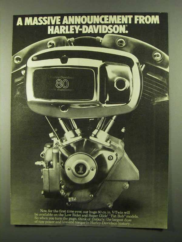 1979 Harley-Davidson V-Twin Engine Ad - Announcement