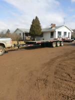 Truck and trailer available  for hauling
