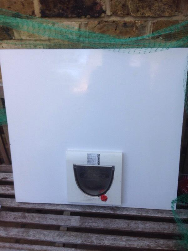 Cat flap in upvc door panel in faversham kent gumtree for Upvc french doors with cat flap