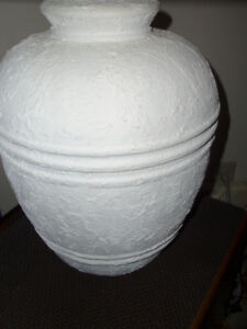 ~ Set Of White Detailed Ceramic Table Lamps ~
