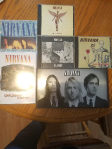 Nirvana cd/dvd lot $50/obo