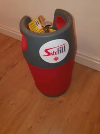 Safe fill gas bottle