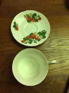 Strawberry Tea Cup and Saucer by Royal Grafton Fine Bone China Edmonton Edmonton Area image 3