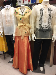 FILIPINO COSTUMES/BARONG TAGALOG/GTA/MISSISSAUGA/BRAMPTON