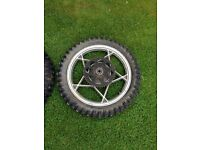 Motorbike wheels and tyres