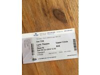 Dan TDM Tour ticket at the Lowry, Manchester