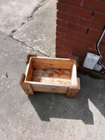 Small wooden planter/ vegetable planter