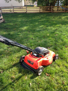 Electric corded lawnmower (18 in) and string trimmer