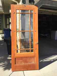 4 ANTIQUE SOLID WOOD DOORS $100 EACH OR $300 FOR ALL 4