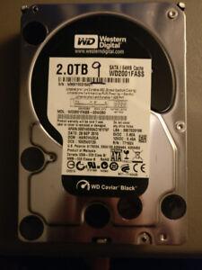 """WD Caviar Black 2TB SATA 3.5"""" HDD 100% Tested Perfect"""