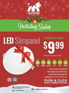 "4"" Led Slim Panel/Pot Light SALE ..WHILE QUANTITIES LAST.......$10.00• Online ordering only"