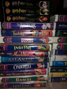 Disney Movies and Harry Potter VHS