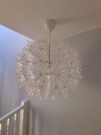 Ikea Maskros white flower pendant light - 55cm