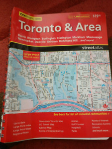 Toronto and area map book
