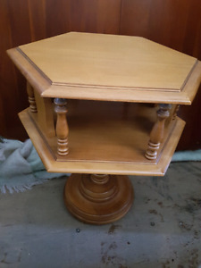 Hexagon side accent end table