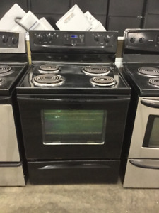 "30"" Whirlpool Black Electric Coil Top Stove"